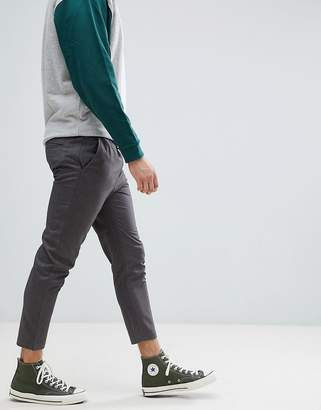Jack and Jones Cropped Smart Slim Fit PANTS With Drawstring Waist