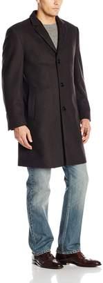 Calvin Klein Men's Plaza Striped Wool Overcoat
