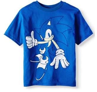 SEGA Short Sleeve Sonic Full Print Splatter Graphic Tee (Little Boys)
