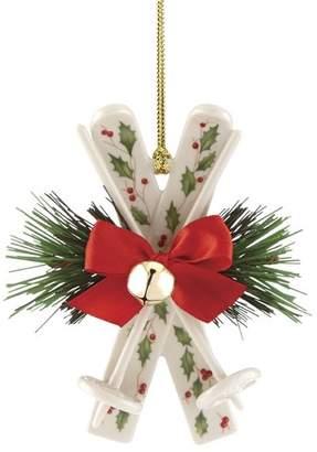 Lenox Holiday Skis Hanging Figurine Ornament