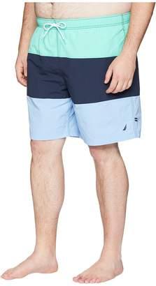 Nautica Big Tall Tricolor Block Trunk Men's Swimwear