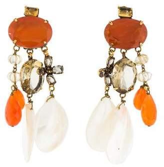 Iradj Moini Multistone Clip-On Earrings