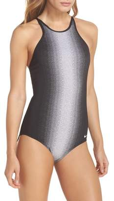 Nike Adjustable High Neck One-Piece Swimsuit