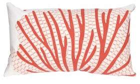 Visions III Coral Fan Indoor and Outdoor Pillow