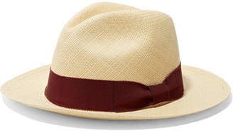 Sensi Studio - Grosgrain-trimmed Toquilla Straw Panama Hat - Beige