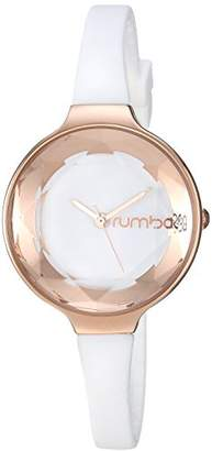 RumbaTime Women's 'Orchard Gem Crystal' Quartz Stainless Steel and Silicone Casual Watch