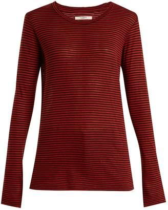 Etoile Isabel Marant Aaron striped linen-blend T-shirt