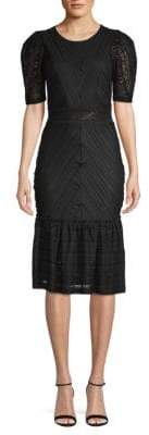 BCBGMAXAZRIA Knitted Cocktail Sheath Dress