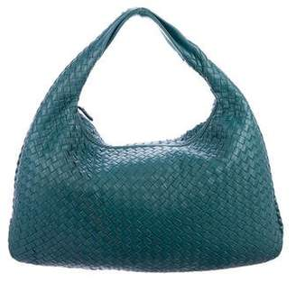Bottega Veneta Intrecciato Large Stitched Veneta Hobo