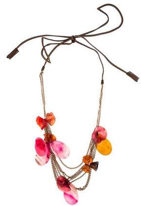 Marni Resin Floral Multistrand Necklace