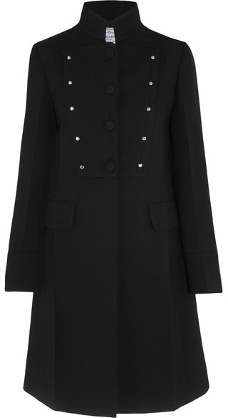 prada Prada - Studded Wool Coat - Black