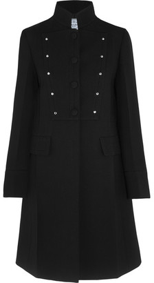 Prada - Studded Wool Coat - Black $2,630 thestylecure.com