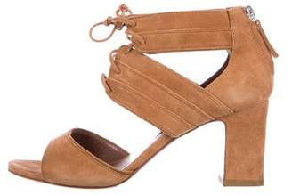 Tabitha Simmons Suede Lace-Up Sandals