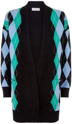 Sandro Diamond Knit Cardigan