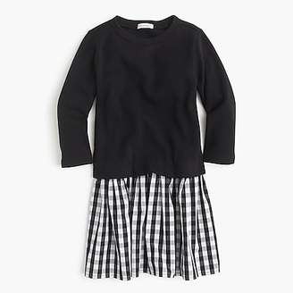 J.Crew Girls' mixed-media dress