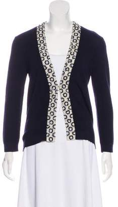 Tory Burch Merino Wool Embellished Cardigan
