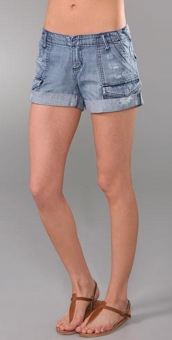 Joie Cillian Denim Cargo Shorts
