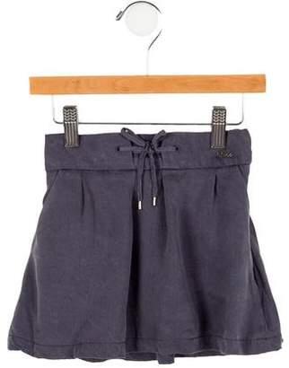 Chloé Girls' Pleated Drawstring Skirt