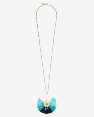 Express Multi Tassel Pendant Drop Necklace