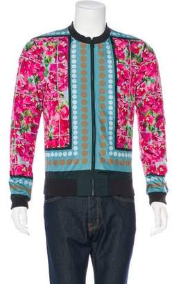 Dolce & Gabbana Floral Print Bomber Jacket w/ Tags