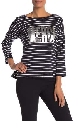 French Connection Merci Graphic 3\u002F4 Sleeve Tee