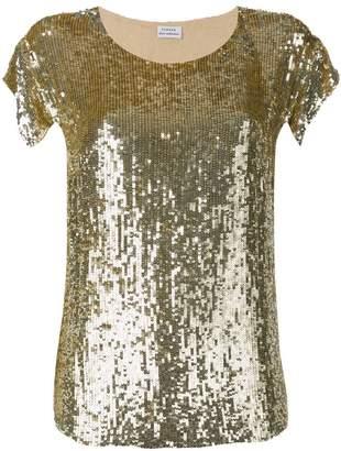 P.A.R.O.S.H. gold sequin top