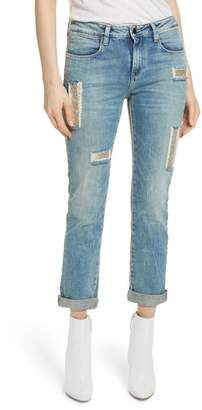 BROCKENBOW Embellished Boyfriend Jeans (Blue Berry)