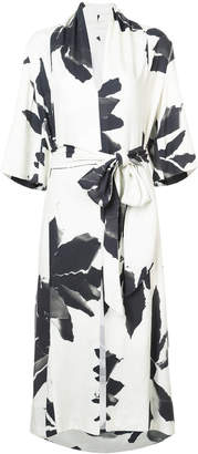 OSKLEN flower wrap dress