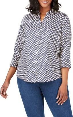Foxcroft Mary Shadow Dot Print Shirt