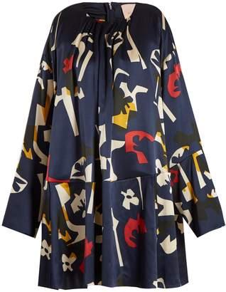 Roksanda Natani geometric-print satin dress