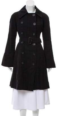 Edun Plaid Double-Breasted Coat