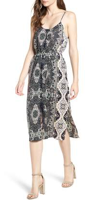 Cupcakes And Cashmere Leela Print Midi Dress