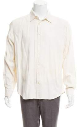 Etro Herringbone Button-Up Shirt
