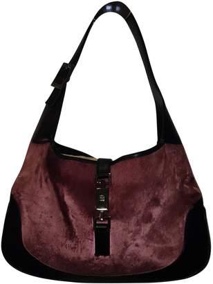 Gucci Jackie Pink Velvet Handbag