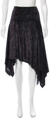 Fuzzi Asymmetrical Devoré Skirt