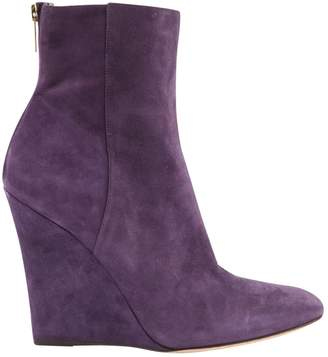 Jimmy Choo Purple Suede Ankle boots