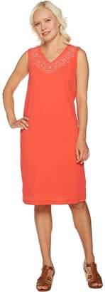 Denim & Co. Embroidered Gauze Dress