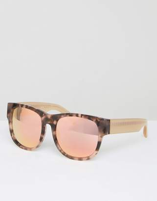 Matthew Williamson Tortoiseshell Square Sunglasses With Pearly Peach Tinted Lens