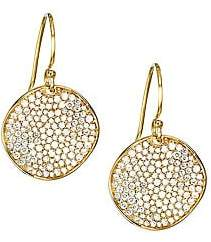 Ippolita Stardust Diamond Pavé & 18K Yellow Round Drop Earrings