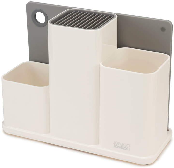 CounterStore Küchen-Caddy mit Schneidebrett, weiß / Grau
