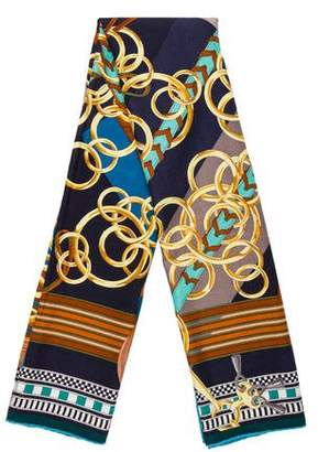 Hermes Brides et Gris-Gris Cashmere Silk Shawl