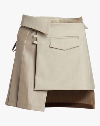 Aaizél Pleated Wrap Mini Skirt