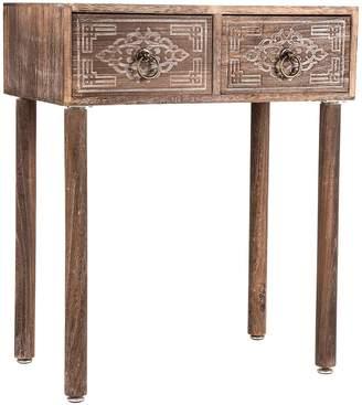 High St. Side Tables Lorette Carved 2 Drawer Side Table