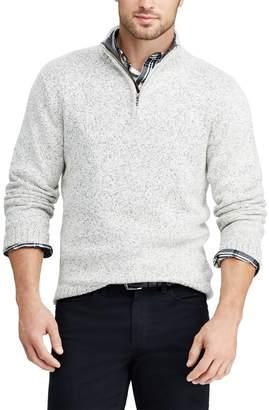 Chaps Big & Tall Classic-Fit Quarter-Zip Mockneck Sweater