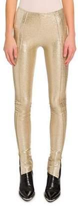 Paco Rabanne Golden Jersey Leggings