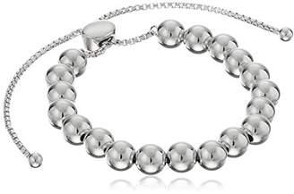 Sterling Silver Beaded Bolo Adjustable Bracelet