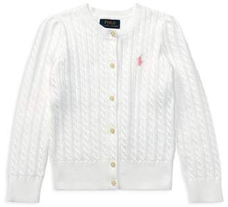 Ralph Lauren Girls' Cable-Knit Cardigan - Little Kid