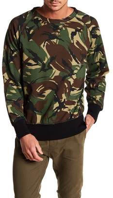 Rag & Bone Camo Print Raglan Sleeve Sweater