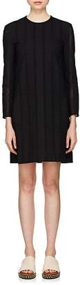 Chloé Women's Owl-Embroidered Cotton Poplin Shift Dress