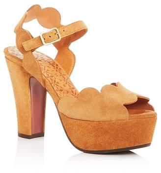 Chie Mihara Women's Xevo Suede High-Heel Platform Sandals